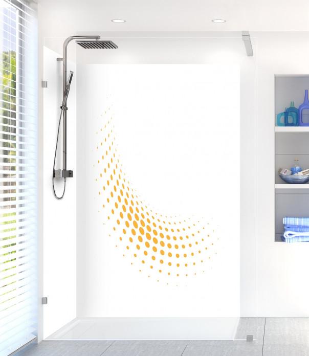 Panneau de douche Nuage de points couleur abricot