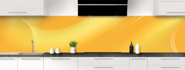 Crédence de cuisine Volute couleur abricot panoramique