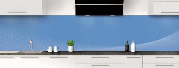 Crédence de cuisine Ombre et lumière couleur bleu lavande panoramique motif inversé