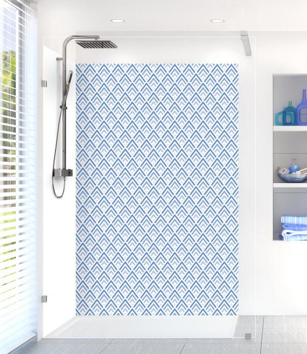 Panneau de douche Ecailles  couleur bleu lavande