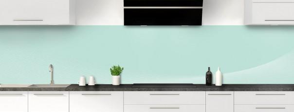 Crédence de cuisine Ombre et lumière couleur vert pastel panoramique motif inversé