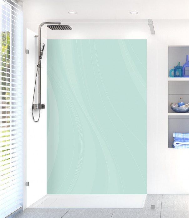 Panneau de douche Voilage couleur vert pastel
