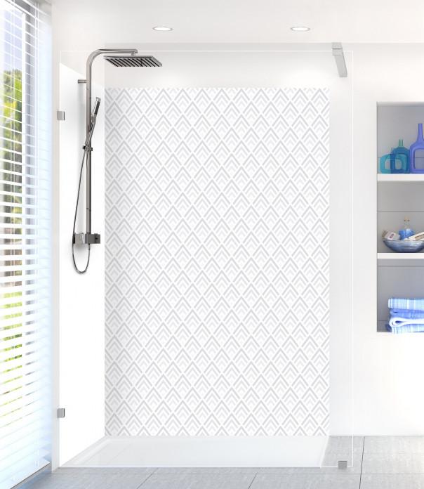 Panneau de douche Ecailles  couleur gris clair