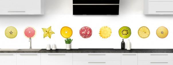 Crédence de cuisine Tranches de fruits panoramique