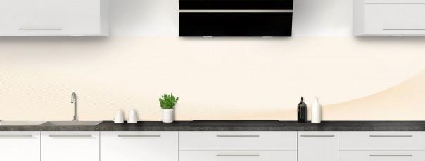 Crédence de cuisine Ombre et lumière couleur magnolia panoramique motif inversé