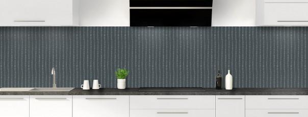 Crédence de cuisine Pointillés couleur gris carbone panoramique