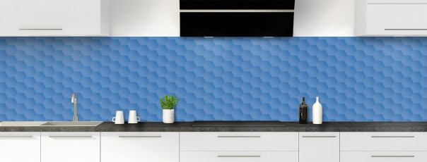 Crédence de cuisine Nid d'abeilles couleur bleu lavande panoramique