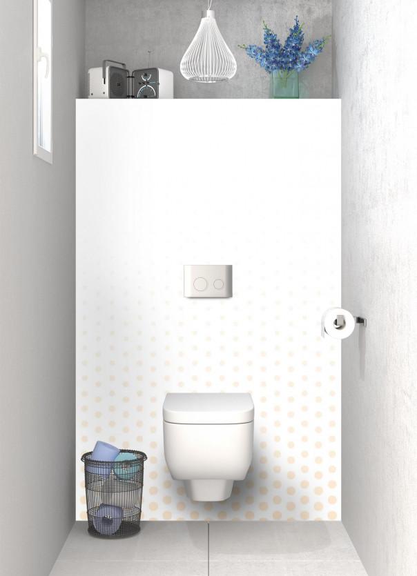 Panneau WC Pluie de points couleur sable