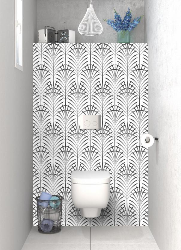 Panneau WC Feuilles de paume couleur noir
