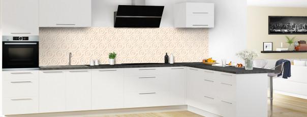 Crédence de cuisine Papier peint rétro couleur sable panoramique en perspective
