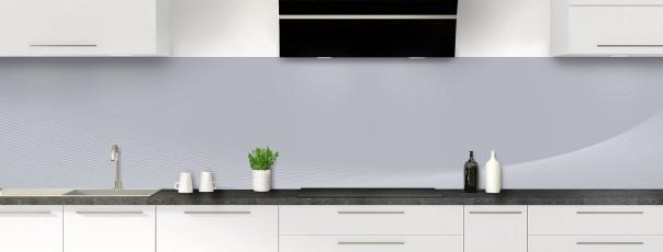Crédence de cuisine Ombre et lumière couleur gris métal panoramique motif inversé