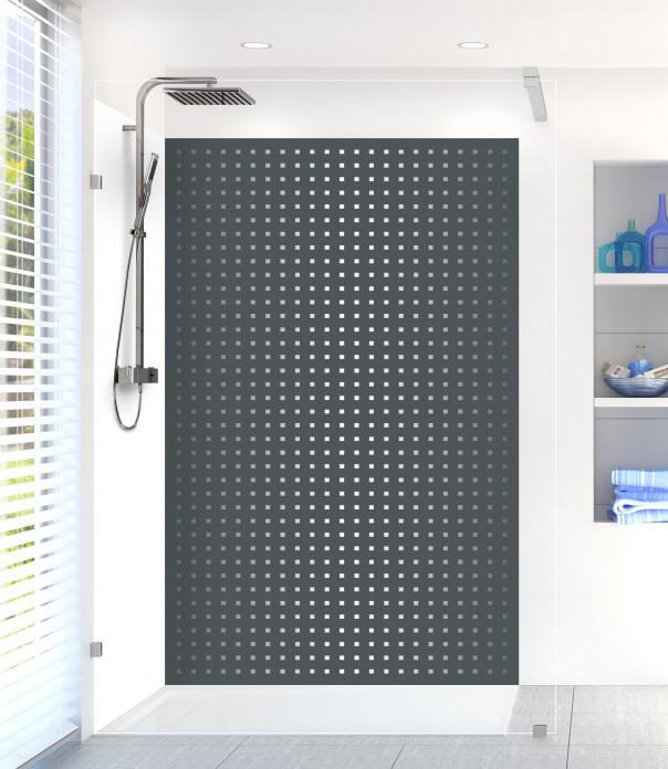 Panneau de douche Petits carrés couleur gris carbone