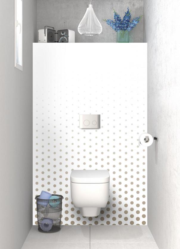 Panneau WC Pluie de points couleur marron glacé