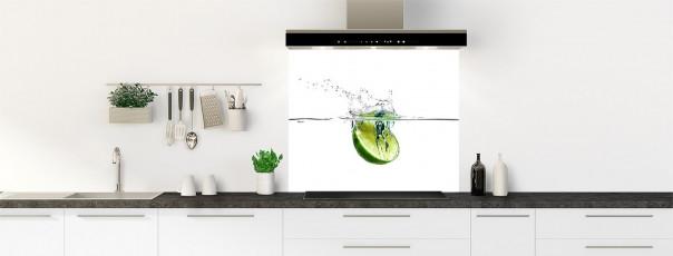 Crédence de cuisine Aqua et citron vert fond de hotte