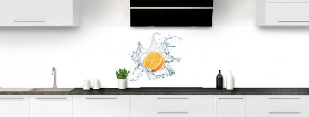 Crédence de cuisine Eau et orange panoramique