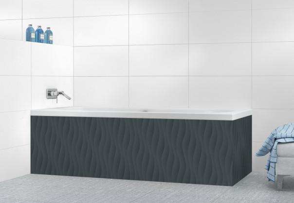 Panneau tablier de bain Ondes couleur gris carbone