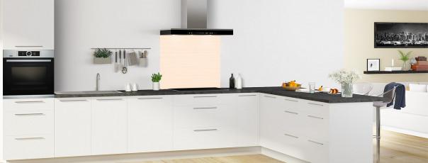 Crédence de cuisine Lignes horizontales couleur sable fond de hotte en perspective