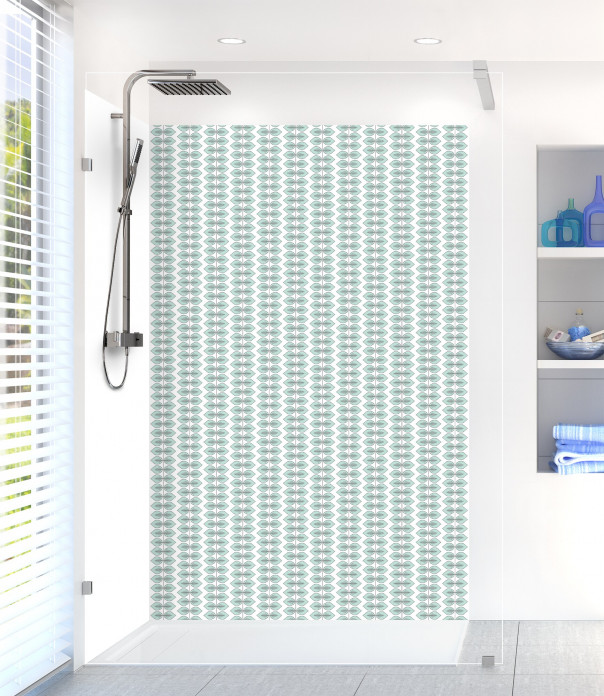 Panneau de douche Petites Feuilles  couleur vert pastel