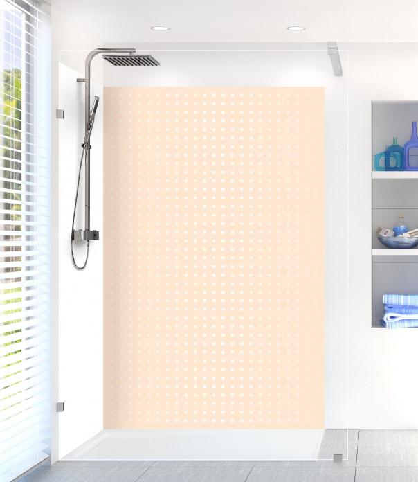Panneau de douche Petits carrés couleur sable