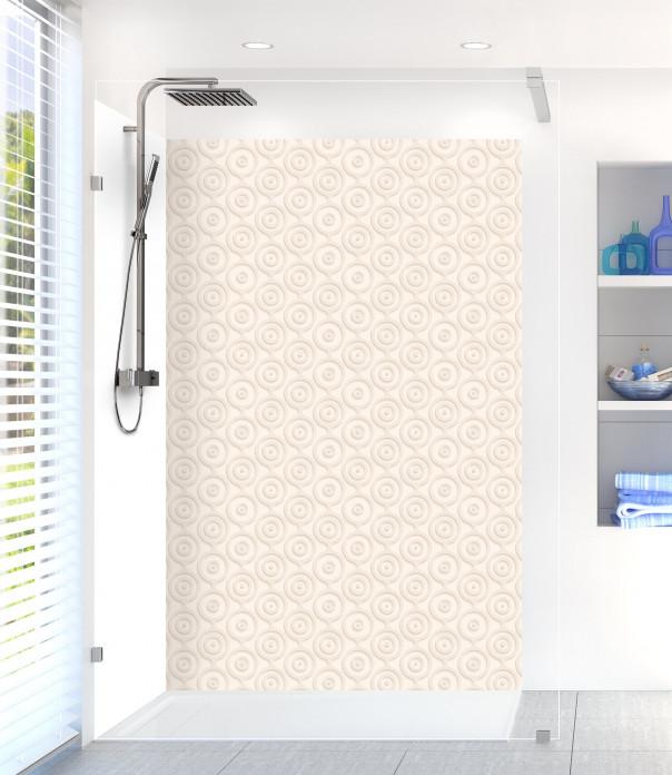 Panneau de douche Papier peint rétro couleur magnolia