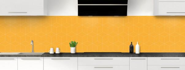 Crédence de cuisine Cubes en relief couleur abricot panoramique