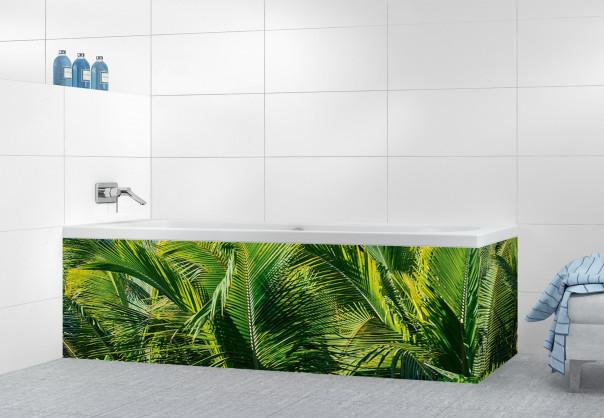 Panneau tablier de bain Paysage tropical motif inversé