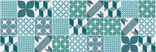 Crédence Carreaux de ciment patchwork Vert