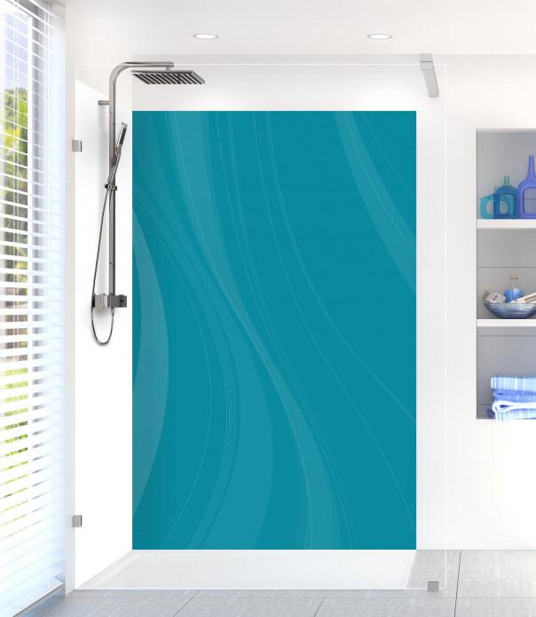 Panneau de douche Voilage couleur bleu canard