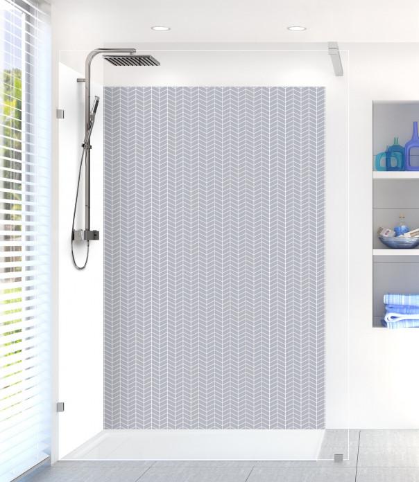 Panneau de douche Origami  couleur gris métal