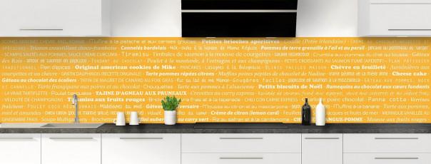 Crédence de cuisine Recettes de cuisine couleur abricot panoramique