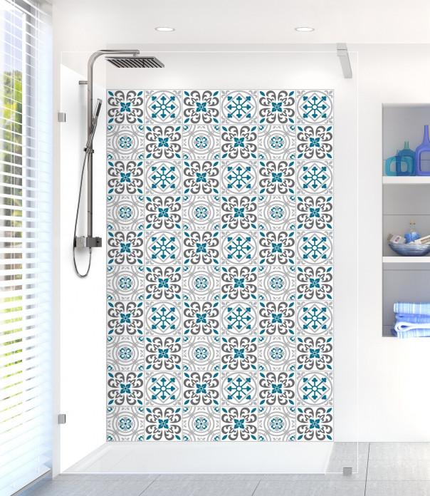 Panneau de douche Carreaux de ciment riad Bleu