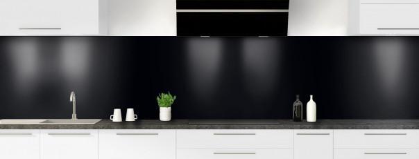 Crédence de cuisine Noir panoramique