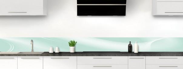 Crédence de cuisine Volute couleur vert pastel dosseret motif inversé