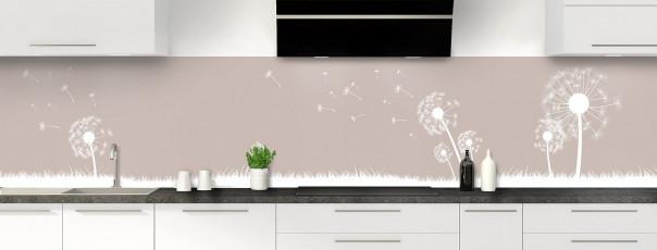 Crédence de cuisine Pissenlit au vent couleur argile panoramique motif inversé