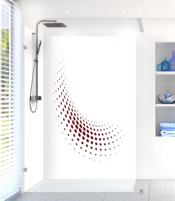 Panneau de douche Nuage de points couleur rouge pourpre