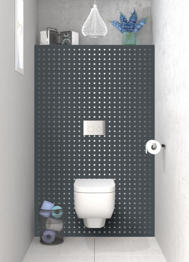 Panneau WC Petits carrés couleur gris carbone