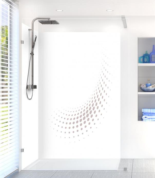 Panneau de douche Nuage de points couleur argile motif inversé