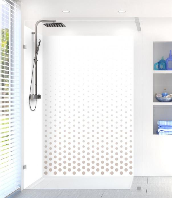 Panneau de douche Pluie de points couleur argile