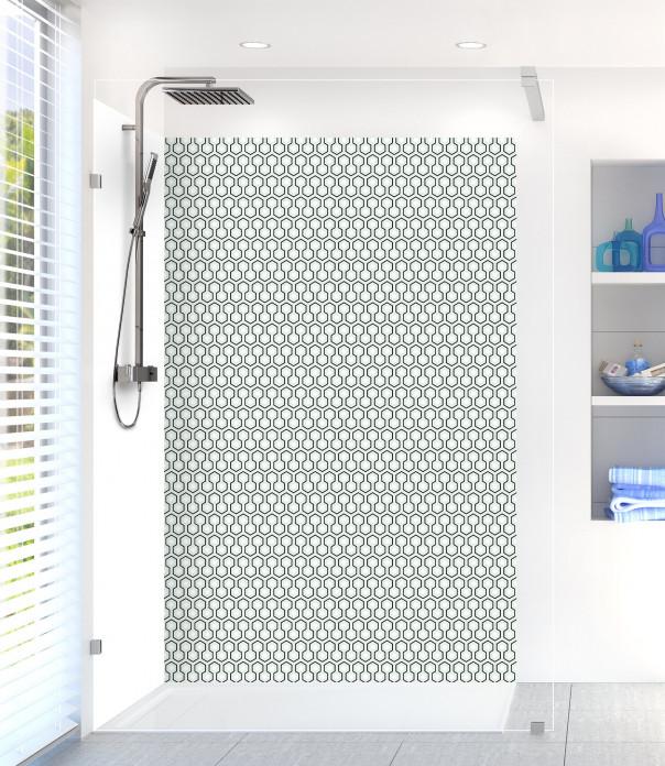 Panneau de douche Hexagones  couleur vert eau