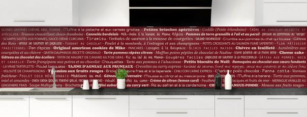 Crédence de cuisine Recettes de cuisine couleur rouge pourpre panoramique