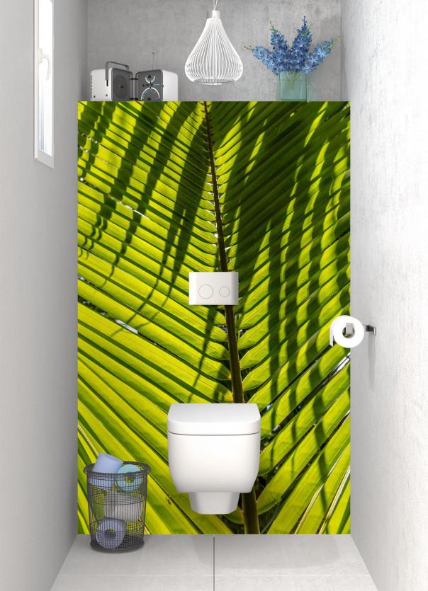 Panneau WC Feuille de cocotier