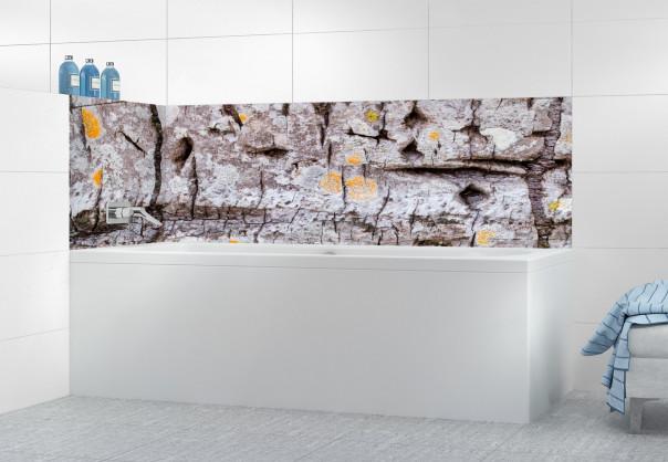Panneau de bain Ecorce reflets orangés