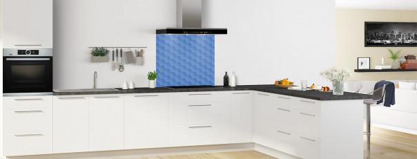 Crédence de cuisine Nid d'abeilles couleur bleu lavande fond de hotte en perspective