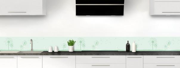 Crédence de cuisine Pissenlit au vent couleur vert eau dosseret