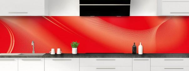 Crédence de cuisine Volute couleur rouge vif panoramique motif inversé