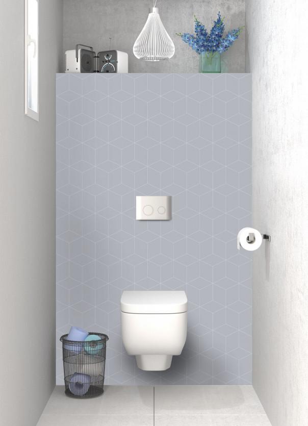Panneau WC Cubes en relief couleur gris métal