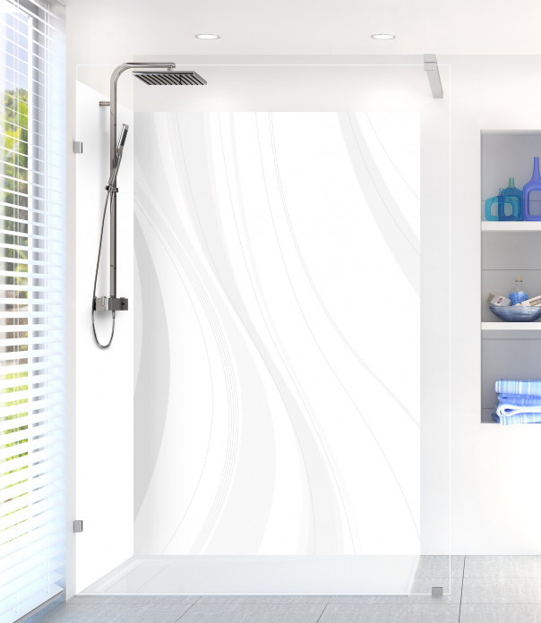 Panneau de douche Voilage couleur blanc
