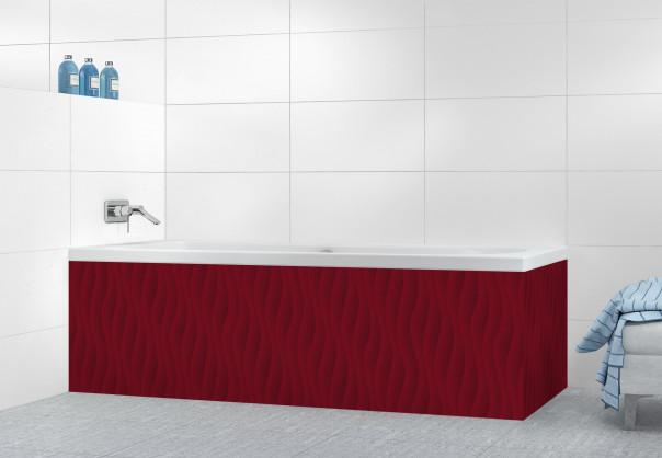 Panneau tablier de bain Ondes couleur rouge pourpre