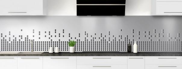 Crédence de cuisine Graphisme métal panoramique