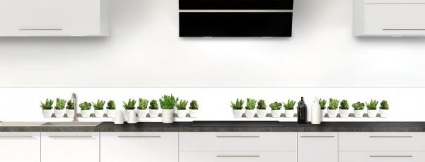 Crédence de cuisine Cactus dosseret motif inversé